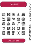 vector icons pack of 25 filled... | Shutterstock .eps vector #1246934140