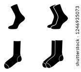 socks icon  logo on white...   Shutterstock .eps vector #1246935073
