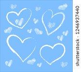 free hand drawn winter heart.   Shutterstock .eps vector #1246937440