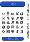 vector icons pack of 25 filled... | Shutterstock .eps vector #1246938763