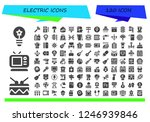 vector icons pack of 120 filled ... | Shutterstock .eps vector #1246939846
