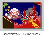 happy new year greeting card... | Shutterstock .eps vector #1246940299