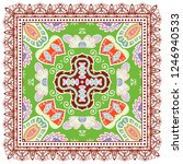 decorative colorful ornament on ... | Shutterstock .eps vector #1246940533