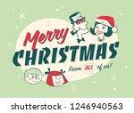 vintage style family spirit... | Shutterstock .eps vector #1246940563