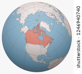 canada on the globe. earth...   Shutterstock .eps vector #1246940740