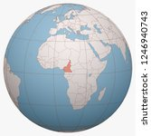 cameroon on the globe. earth...   Shutterstock .eps vector #1246940743