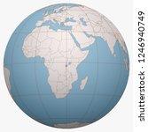 burundi on the globe. earth...   Shutterstock .eps vector #1246940749