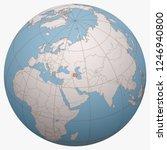 azerbaijan on the globe. earth... | Shutterstock .eps vector #1246940800