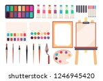 painting tools. cartoon... | Shutterstock .eps vector #1246945420