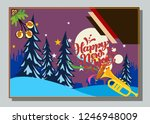 happy new year greeting card... | Shutterstock .eps vector #1246948009