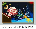 happy new year greeting card... | Shutterstock .eps vector #1246949533