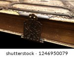 antique books  with brass... | Shutterstock . vector #1246950079