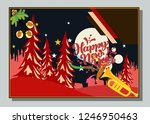 happy new year greeting card... | Shutterstock .eps vector #1246950463