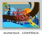 happy new year greeting card... | Shutterstock .eps vector #1246950616