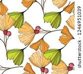 vector. green ginkgo leaf. leaf ...   Shutterstock .eps vector #1246951039