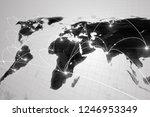 global business concept of... | Shutterstock . vector #1246953349