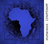 sketch blot dotty african...   Shutterstock . vector #1246953649