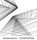architecture  geometric... | Shutterstock .eps vector #1246953946