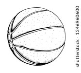 basketball vector illustration.   Shutterstock .eps vector #1246960600