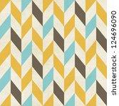 seamless geometric chevron... | Shutterstock . vector #124696090