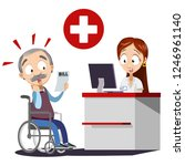 old man surprised by medical... | Shutterstock .eps vector #1246961140