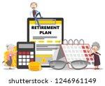 pension retirement plan poster...   Shutterstock .eps vector #1246961149