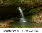 perforated waterfall the nature ... | Shutterstock . vector #1246961653