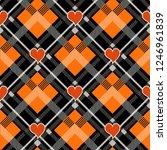 halloween tartan plaid with... | Shutterstock .eps vector #1246961839