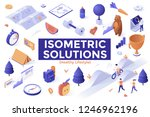 set of isometric elements... | Shutterstock .eps vector #1246962196