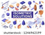 collection of modern isometric...   Shutterstock .eps vector #1246962199