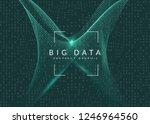 quantum computing background.... | Shutterstock .eps vector #1246964560