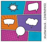 colorful comic book page...   Shutterstock . vector #1246969453
