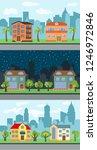 set of three illustrations of... | Shutterstock . vector #1246972846