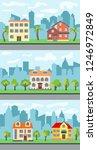 set of three illustrations of... | Shutterstock . vector #1246972849