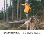 boy in bright yellow puffer... | Shutterstock . vector #1246974613