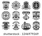 nautical set of twelve vector... | Shutterstock .eps vector #1246979269