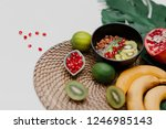 essentials for cooking smoothie ... | Shutterstock . vector #1246985143