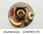 essentials for cooking smoothie ... | Shutterstock . vector #1246985170