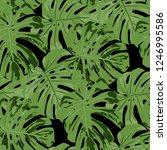 tropical pattern. seamless... | Shutterstock .eps vector #1246995586