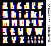 glitch alphabet. letters and... | Shutterstock .eps vector #1246999600