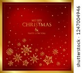 happy new year greeting card... | Shutterstock .eps vector #1247004946
