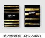 vector black and gold design... | Shutterstock .eps vector #1247008096