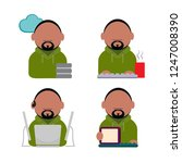 vector icon of geek. afro. the...   Shutterstock .eps vector #1247008390
