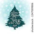 merry christmas and happy new... | Shutterstock .eps vector #1247009806