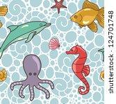 Seamless Vector Sea Pattern...