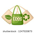 green and beige fabric cloth or ... | Shutterstock .eps vector #1247020873