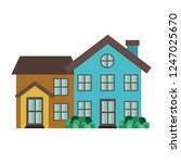 neighborhood isolated icon | Shutterstock .eps vector #1247025670