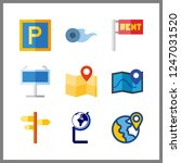 9 geography icon. vector... | Shutterstock .eps vector #1247031520