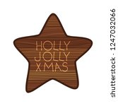 star on wooden with christmas... | Shutterstock .eps vector #1247032066
