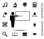 teacher icon. simple glyph...